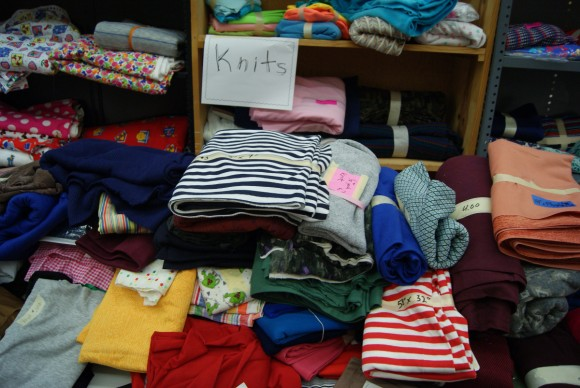 Knit fabrics at the world's largest textile garage sale