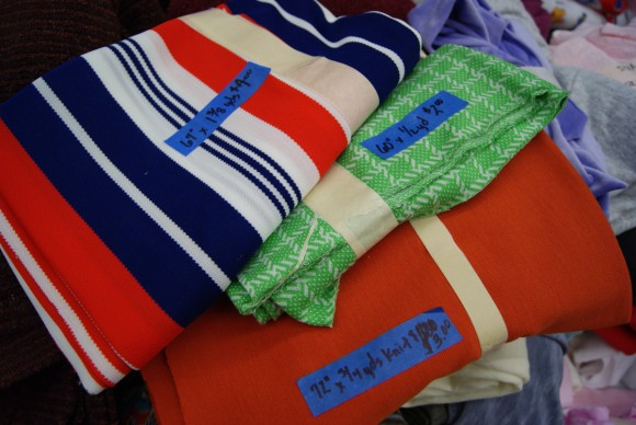 Vintage knit fabrics at the world's largest textile garage sale