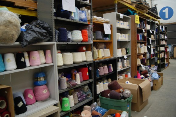 Yarns at the world's largest textile garage sale