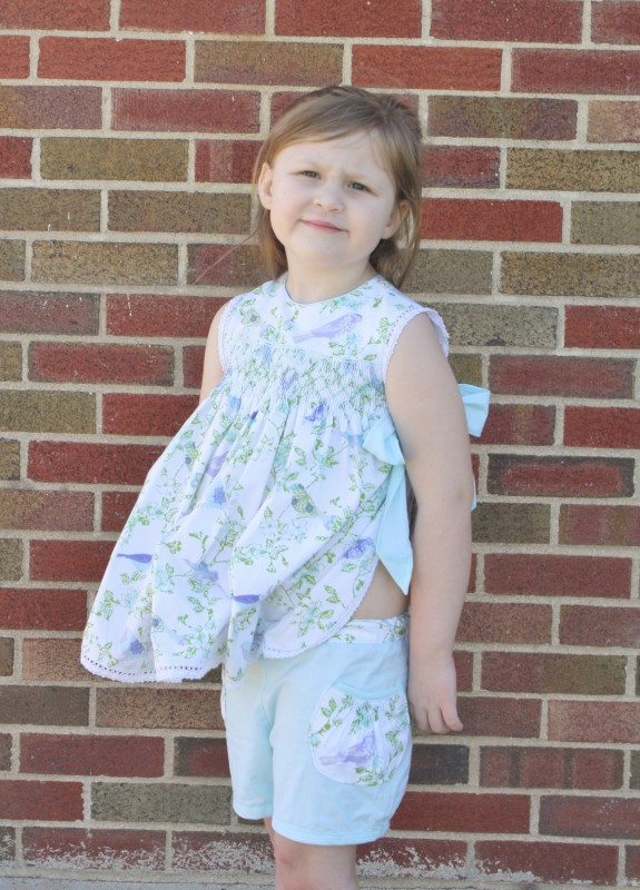 Smocked pocket on the Oliver + S Puppet Show Shorts