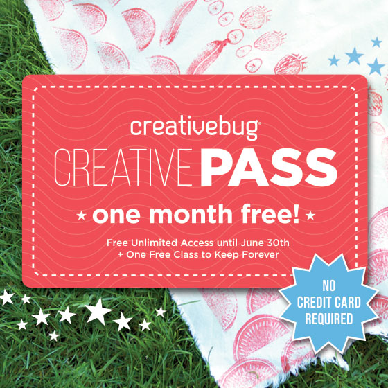 Get one free month of Creativebug