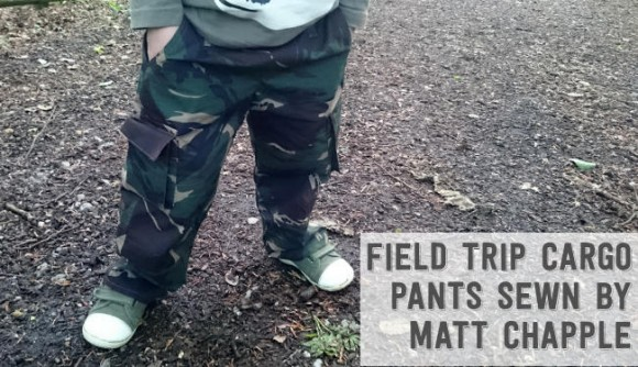 Oliver + S Field Trip Cargo Pants sewn by Matt Chapple