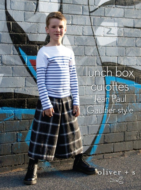 Oliver + S Lunch Box Culottes Jean Paul Gaultier style