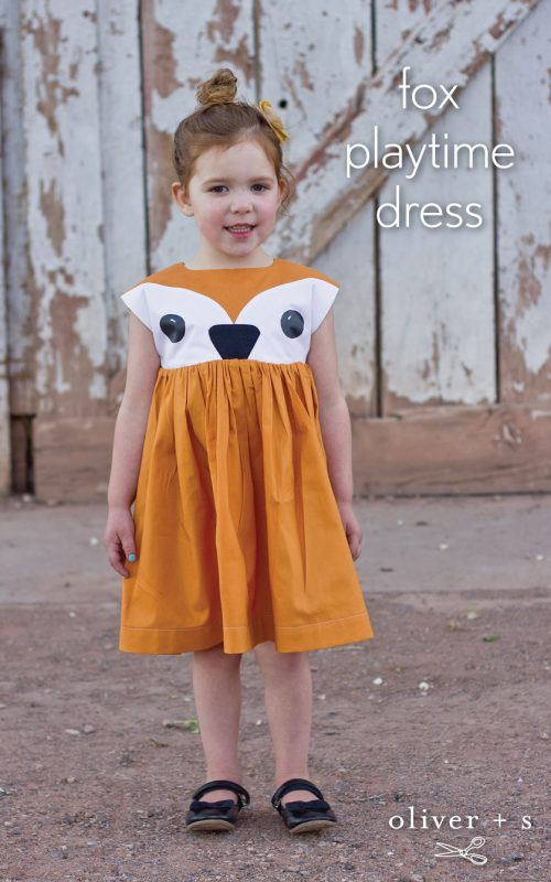 Oliver + S Playtime Dress with a fox face