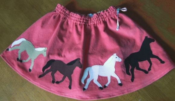 Oliver + S Swingset Skirt with horse applique