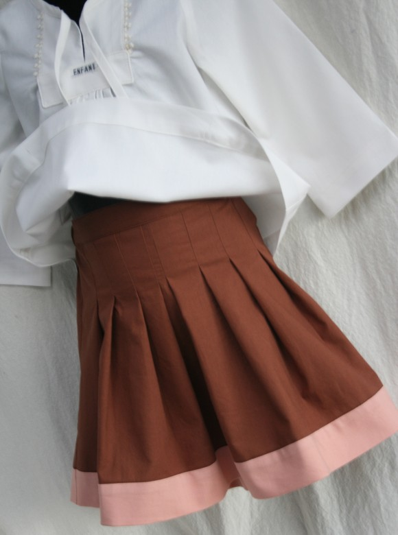 Oliver + S Blouse + Pleated Skirt