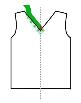 V-neck t-shirt tutorial