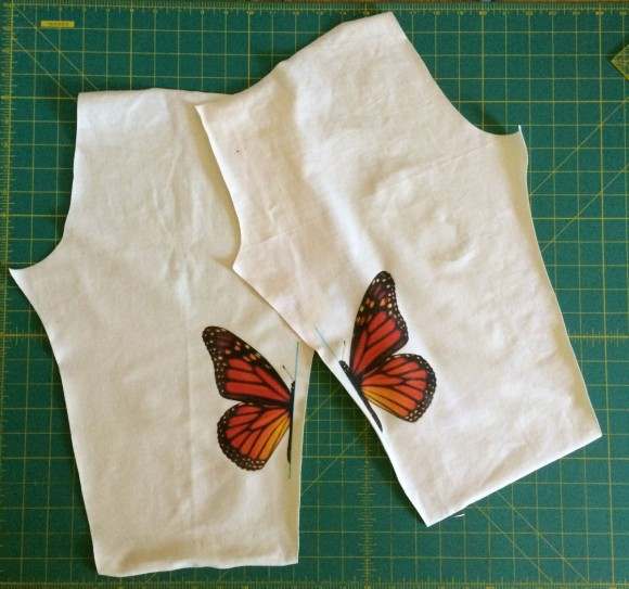Adding an iron-on transfer image to the knees of the Oliver + S Playtime Leggings