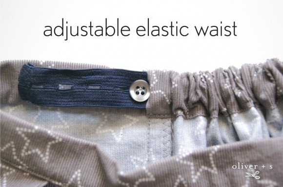Adding an adjustable elastic waist to pants/skirts