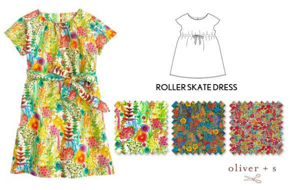 Inspiration for an Oliver + S Roller Skate Dress