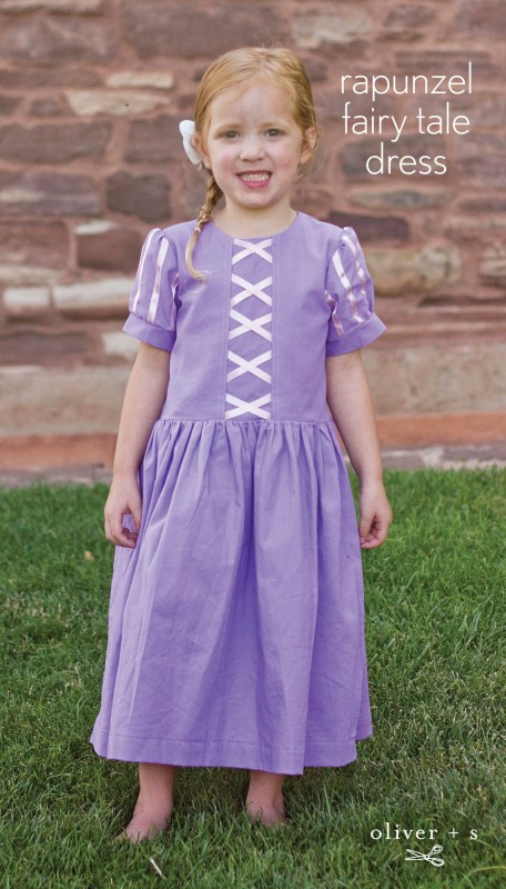 Oliver + S Fairy Tale Dress turned into a Princess Rapunzel dress