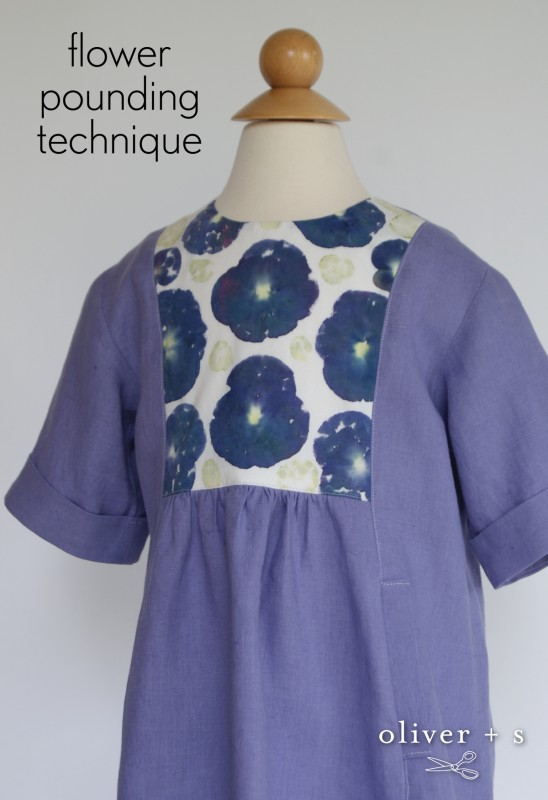 Oliver + S Hide-and-Seek Dress with flower-pounded yoke