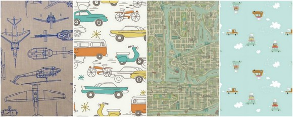 Kid's Clothes Week traveling theme fabric ideas