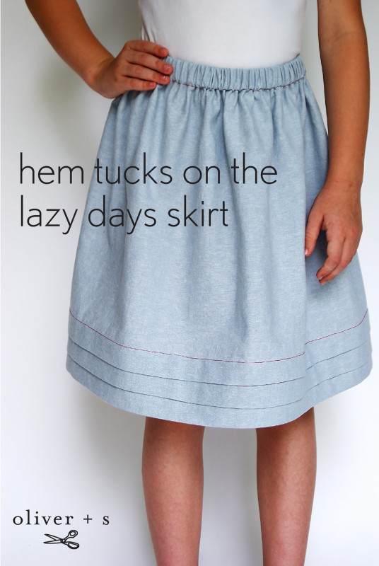 Adding hem tucks to the Oliver + S Lazy Days Skirt