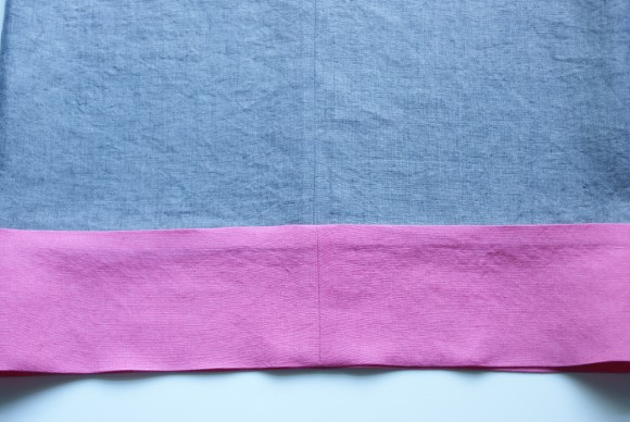 Double-thickness hem tutorial