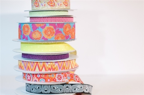 Jacquard ribbons from The Ribbon Jar