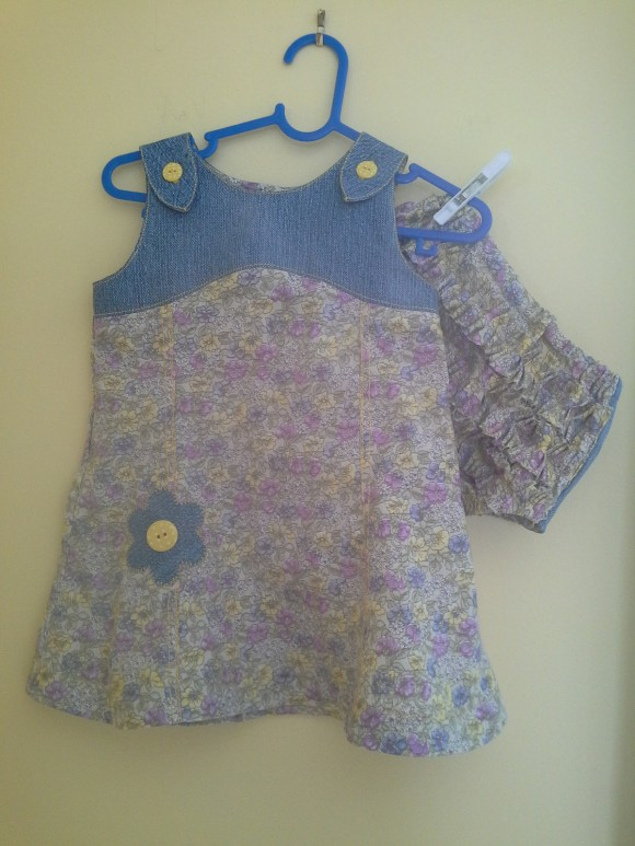 Oliver + S Teaparty Sundress and bloomers