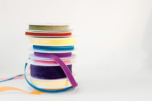 Velvet ribbons from The Ribbon Jar