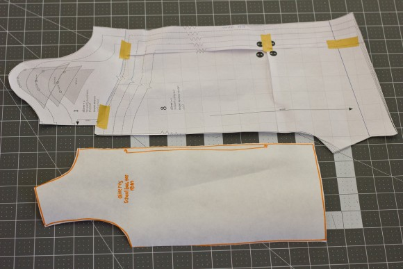 Oliver + S School Bus T-shirt and Tea Party Playsuit pattern pieces
