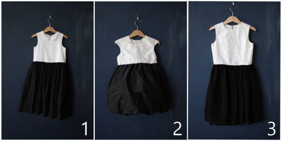 Oliver + S dresses in black and white