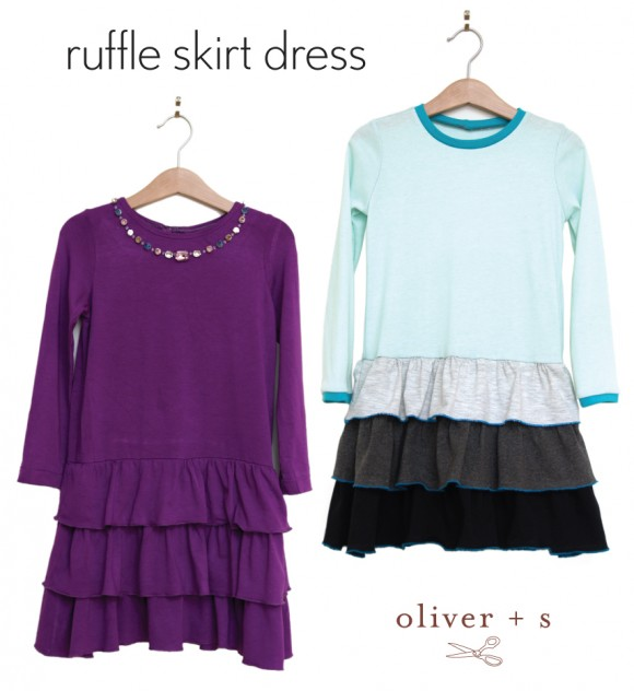 Ruffle skirt dress tutorial