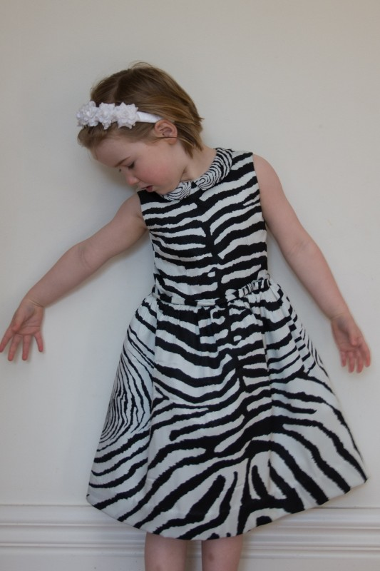 Oliver + S Fairy Tale Dress in zebra print