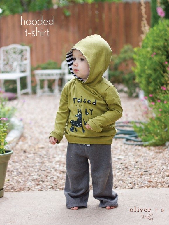 Oliver + S School Bus T-shirt with added hood