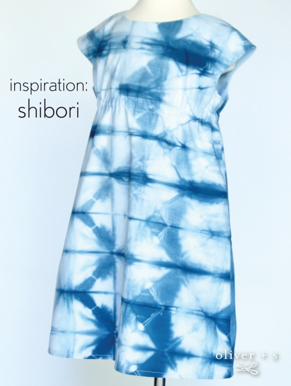 Oliver + S Rollerskate Dress in shibori dyed fabric