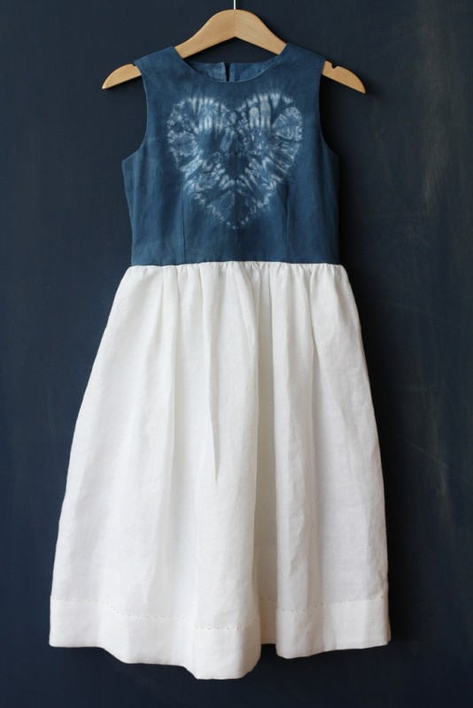 Oliver + S Fairy Tale Dress in shibori dyed fabric