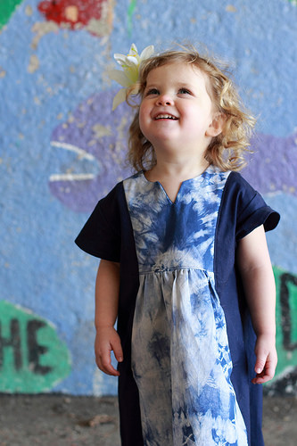Oliver + S Hide-and-Seek Dress in shibori dyed fabric