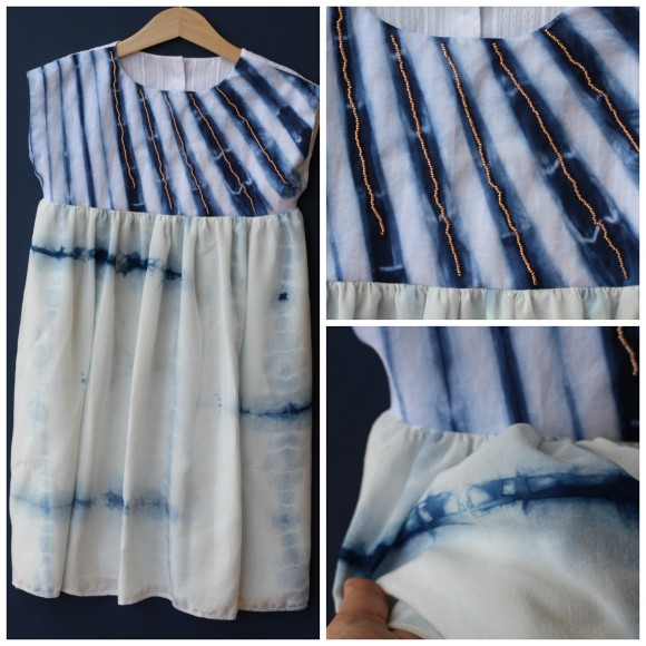 Oliver + S Playtime Dress in shibori dyed fabric