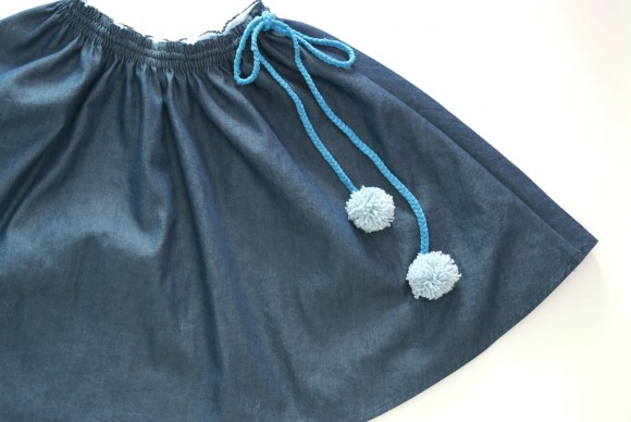 Oliver + S Swingset Skirt with braid drawstring and pompoms