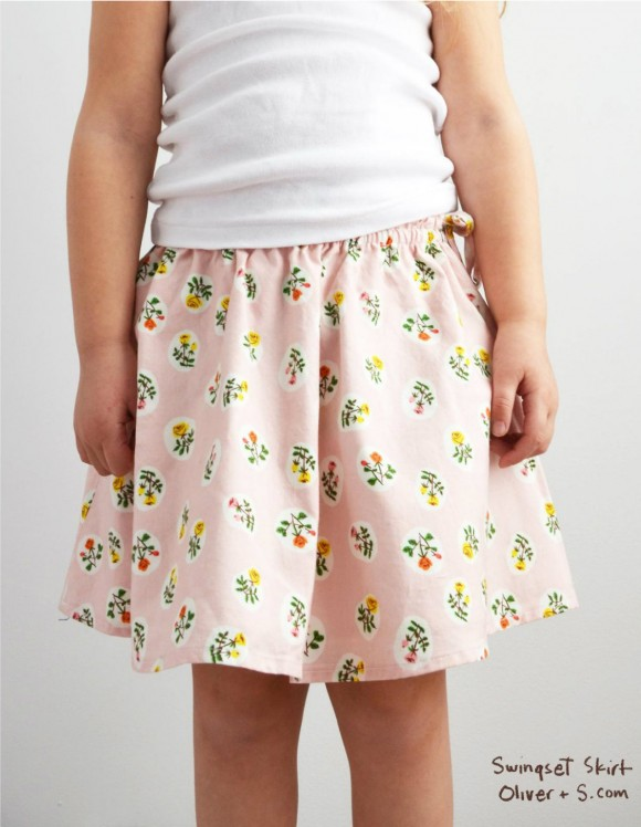 Oliver + S Swingset Skirt sewn in Tiger Lily