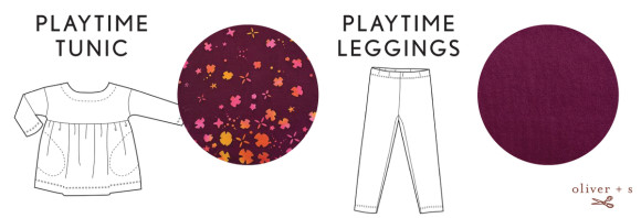 Oliver + S Playtime Tunic + Leggings in Handcrafted fabrics