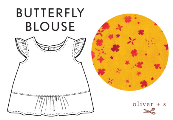 Oliver + S Butterfly Blouse in Handcrafted fabric