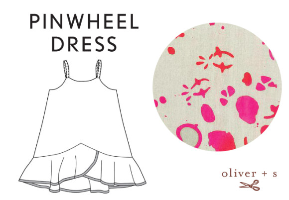 Oliver + S Pinwheel Dress in Handcrafted fabric