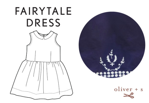 Oliver + S Fairy Tale Dress in Handcrafted fabric