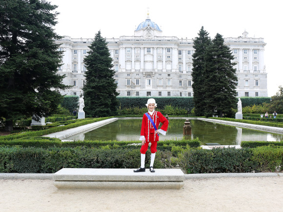 King Carlos IV in the Jardines de Sabatini at the Palacio Real in Madrid