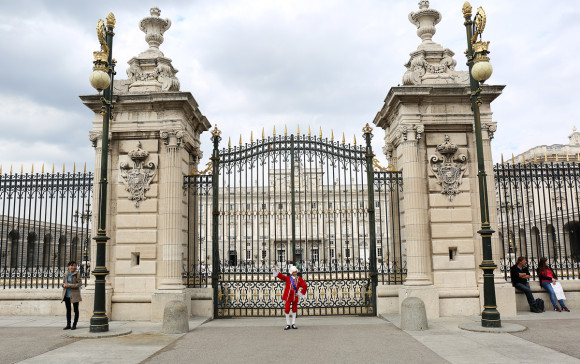 King Carlos IV at the Gate to the Palacio Real in Madrid