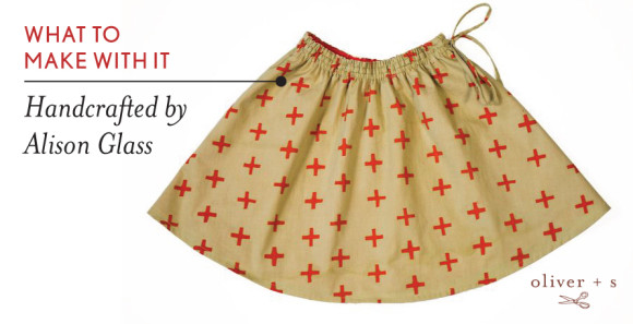 Oliver + S Swingset Skirt in Handcrafted fabric