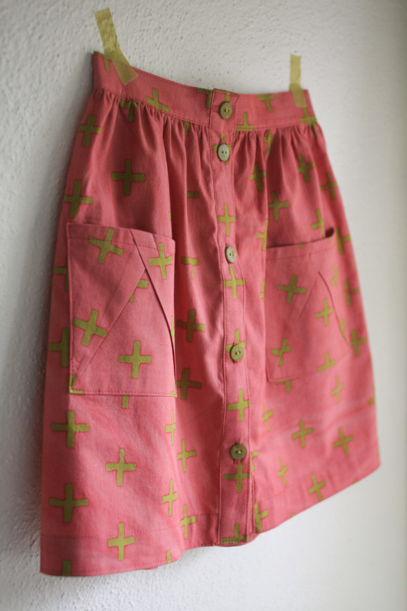Oliver + S Hopscotch Skirt in Handcrafted fabric