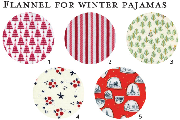 Flannel fabric ideas for Oliver + S pajamas