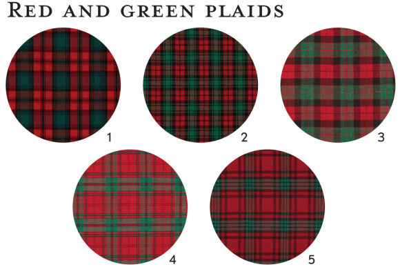 Red and green plaid fabric ideas for Oliver + S patterns