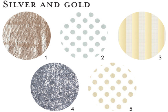 Silver and gold fabric ideas for Oliver + S patterns