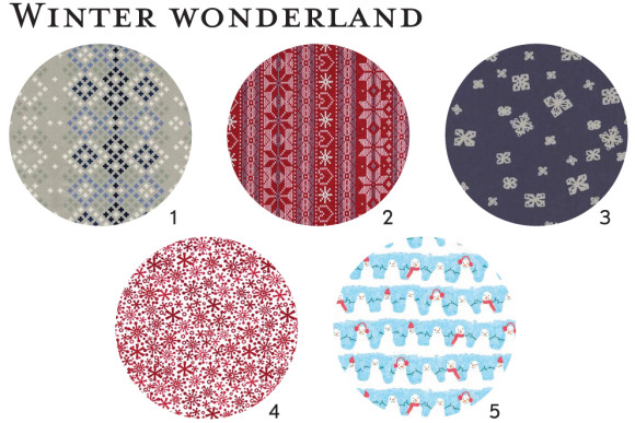 Winter wonderland fabric ideas for Oliver + S patterns
