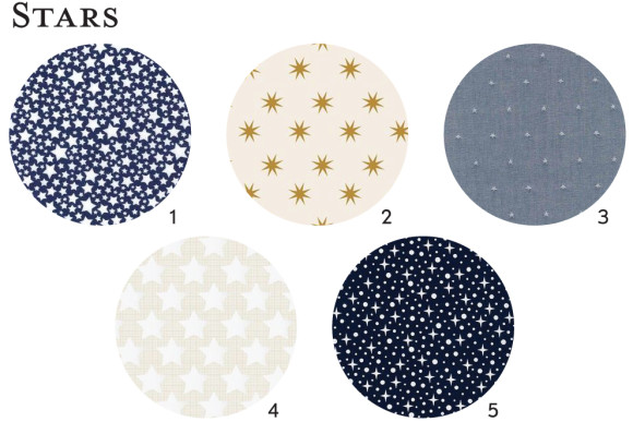 Star fabric ideas for Oliver + S patterns