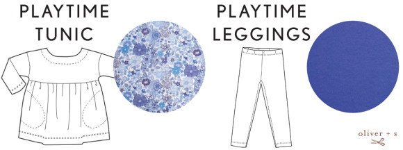 Oliver + S Playtime Tunic + Leggings in Serenity