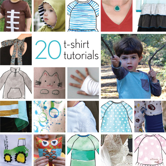 20 t-shirt tutorials that use Oliver + S and Liesl + Co. patterns