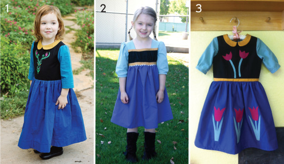 Oliver + S Anna dresses inspired by the Frozen movie