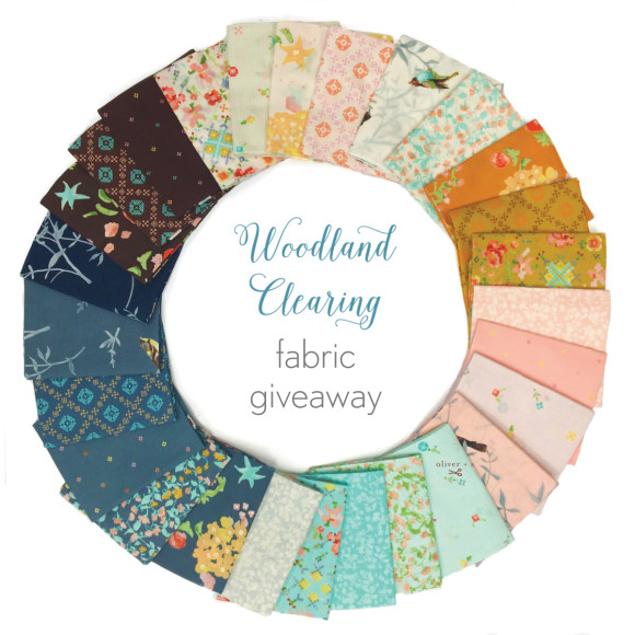 Woodland Clearing fabric giveaway on the Oliver + S blog